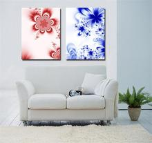 Free shipping decorative pink blue abstract flower craft for housewarming decoration wall art Canvas Prints