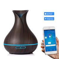 400ml Air Humidifier Essential Oil Diffuser Aroma Lamp Aromatherapy Electric Aroma Diffuser Mist Maker Smart APP Remote Control
