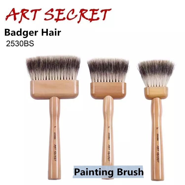 2530BS high quality badger hair long oak wooden handle watercolor art supplies artist paint brush 2840s high quality horse hair acrylic handle paint art supplies watercolor artist brush