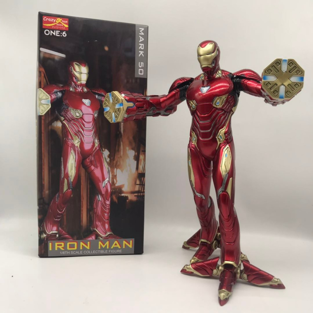 32CM Crazy Toys Avengers Alliance 3: Infinite War IRON MAN MARK 50 1/6 Scale Collectible Figure Statue Toy and Doll Gifts