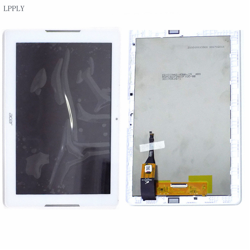 LPPLY 10.1 For Acer Iconia One 10 B3-A20 A21 Tablet LCD Screen Display Assembly FREE SHIIPNG srjtek 10 1 for acer iconia one 10 b3 a20 a5008 lcd display matrix screen tablet pc replacement parts b3 a20 lcd screen repair