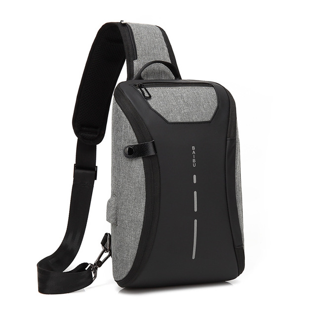 Casual Unisex Shoulder Crossbody Bag USB Charging