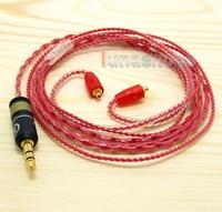 130cm Red Custom OCC Hifi Cable For Shure se535 Se846 Ultimate UE900 earphone LN004437