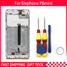 New original  For Elephone P8 mini Touch Screen LCD Display Digitizer Assembly With Blue Frame Replacement Parts P389BF P389CF