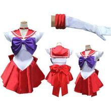 6 colors Japan Anime Cosplay Dress With Bowknot Sexy Sailor Moon Costume Lapel Collar Hot Girl Cosplay Dress Pleated Skirt S-2XL
