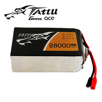 TATTU Lipo Battery 6S 22.2V 28000mAh 25C 6S1P 22.2V Batteries with AS150 Plug for RC UAV Drone Plant Protect Machine