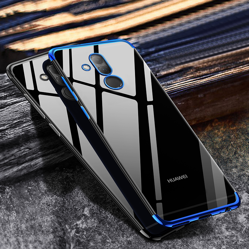 Bumper-Case Plating-Shining-Cover Huawei Mate Transparent Silicone Luxury for 20-lite-case/Luxury/Transparent/..