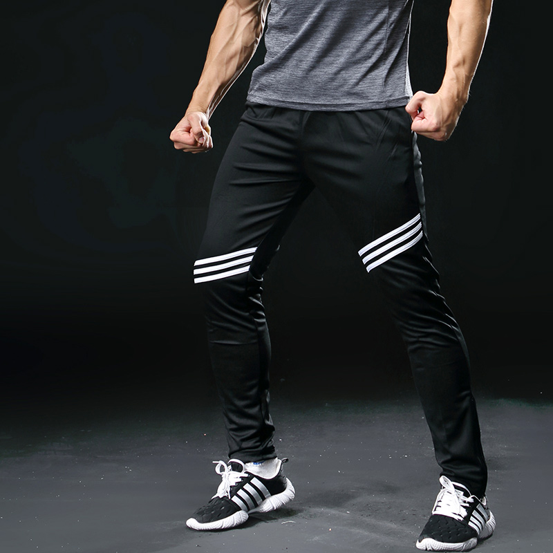 Running Pants Men Professional Sports Leggings Running Gym Fitness Yoga Pants Zipper Skiny Leg Football Training Pants 323 men zip pocket peg leg pants