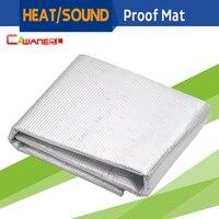 Cawanerl 50CM x 100CM Auto Car Firewall Door Hood Sound Proof Heat Thermal Shield Insulation Mat Deadener Deadening 20 x 40
