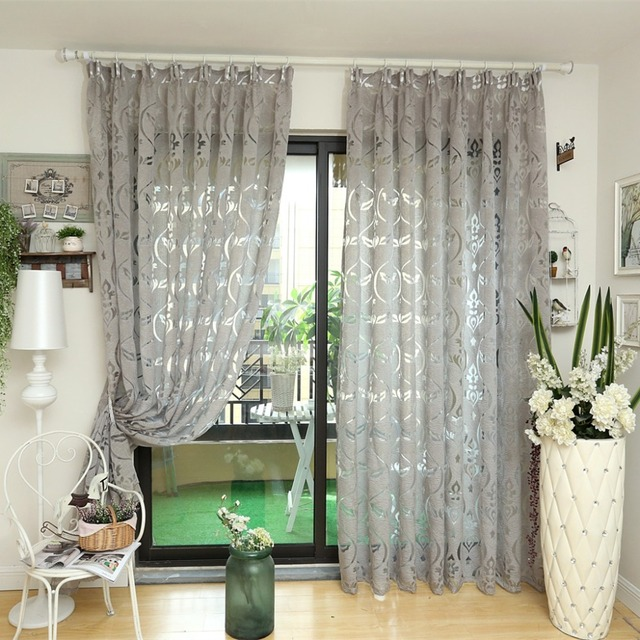 Modern Curtain Kitchen Ready Made Bronze Color Curtains Window Elegant Living Room Home D