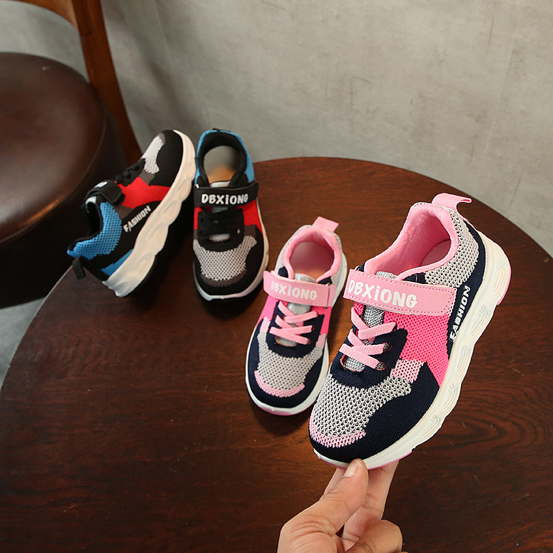 AFDSWG black mesh breathable sneakers for boys pink children shoes for girls sneakers fo ...
