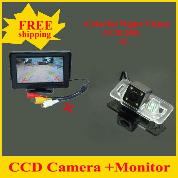 2 in 1 Car rear view Camera For BMW 1 Series E82 3Series E46 E90 E91 5 Series E39 E53 X3 X5 X6 HD + 4.3