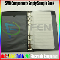 Free Shipping Resistor Capacitor Inductor Blank SMD Components Empty Sample Book For 0402 0603 0805 1206