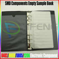 Condensador de resistencia SMD surtido de componentes electrónicos libro de muestra 20 páginas usando diseño de estilo de libro