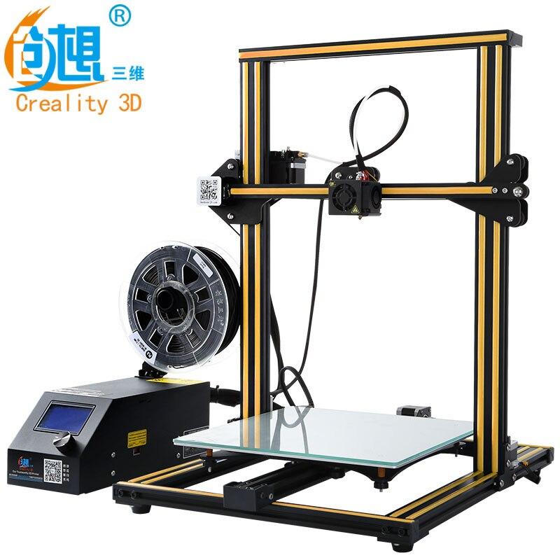 CREALITY 3D Imprimante CR-10 & Cr-10S Facultatif 3D Imprimante kits de Haute Qualité De Bureau CNC Full Metal 3d imprimante avec des filaments cadeau