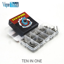 Vapethink Steam Shark ten in one heating wire 10 in 1 Prebuild coil DIY For Electronic Cigarette RBA RTA RDA Vaporizer tank