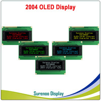 Real OLED Display, Military Level 2004 204 20*4 Character LCD Module Screen LCM build in WS0010, Support Serial SPI