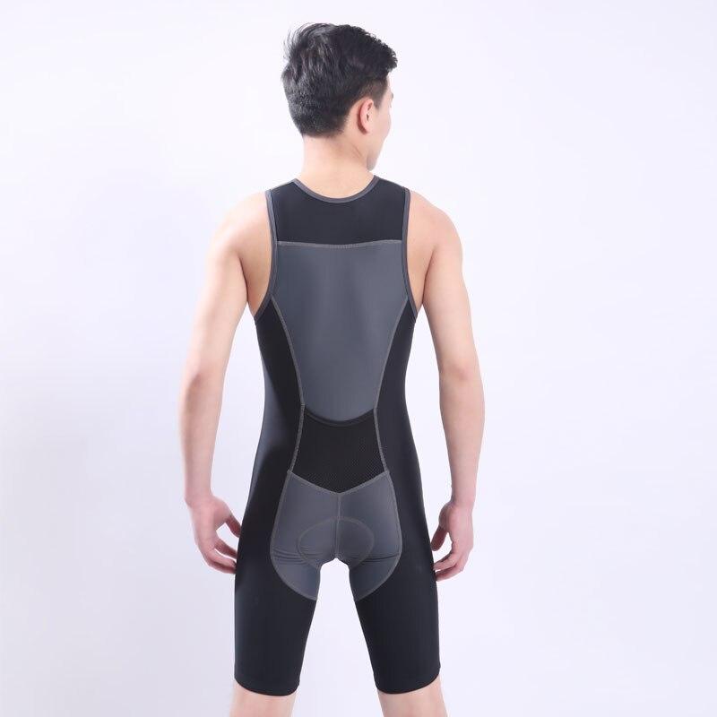 Trasporto veloce Ironman Triathlon Dermotuta Senza Maniche Integrato Vestito di Costumi Da Bagno di Un pezzo Cycling Jersey Per La Formazione Concorrenza