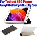 Case para teclast x80 tablet pc de energía original de lujo de cuero de la pu case cristal de la contraportada del tirón para x80 potencia mejor calidad tl04