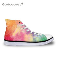 ELVISWORDS Colorful Printing Vulcanize Shoes Women Graffiti Canvas Shoes For Teenagers Student Fashion Sneakers Round Toe