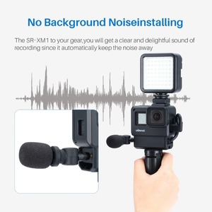Image 2 - BOYA Saramonic SR XM1 3.5MM Vlog Mic Condenser Microphone for Gopro Hero 8/7/6/5 DJI Osmo Action DJI OSMO Pocket