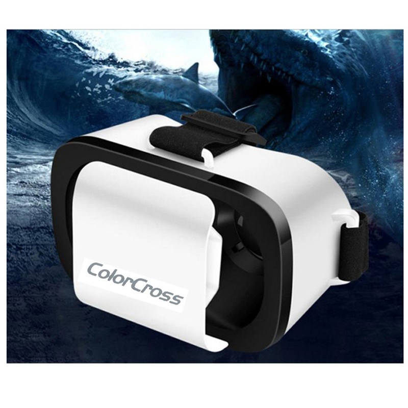 Google Cardboard VR BOX Virtual Reality 3D Glasses For 4-6 Inches Scree Samsung S7 S6 S5 S4 iPhone Xiaomi Huawei Wholesale 2