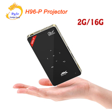 H96-P Projector 2G 16G S905 Mini Portable pocket Projector DLP Projector Android proyector Home theater system