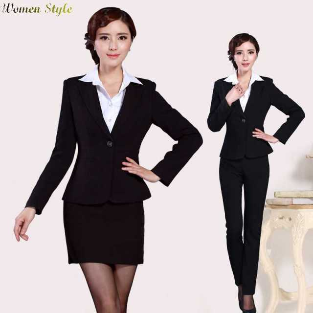 2edd501a7f0 Free Shipping 2015 slim interview outfit wear suits womens dress in black  overalls 1444863826