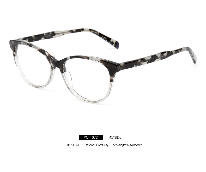 f2806ecfe1f 2019 Jim Halo Retro Eyeglasses Acetate Optical Frame Spring Hinge ...