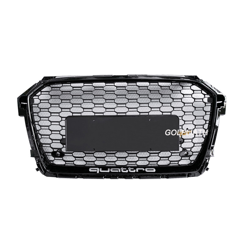 Date A1 RS1 Racing Grills ABS Honeycomb Grill calandre quattro pour Audi A1 S1 RS1 pare-chocs avant 2016- 2018