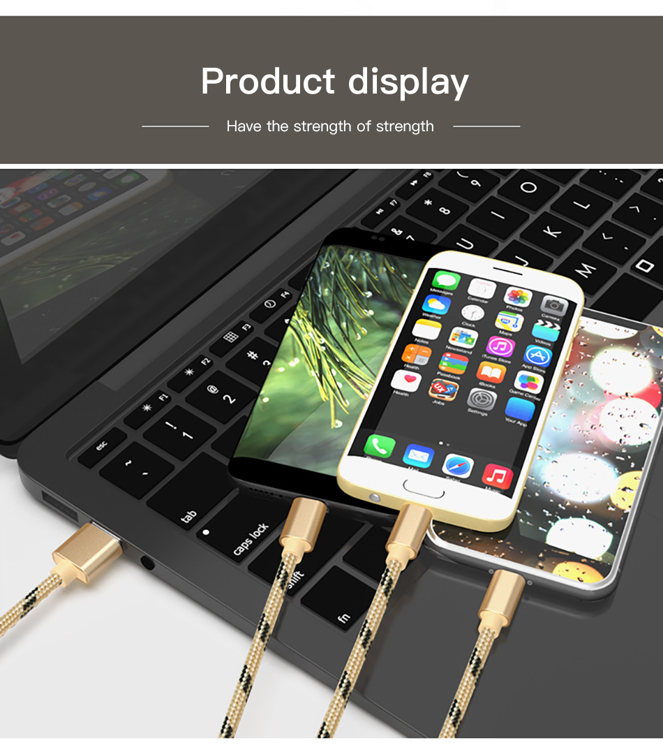 !ACCEZZ 3 in 1 USB Cable 2A Charging Line Micro USB Type C Lighting For iPhone XR XS MAX Charger Phone Cable For Samsung S9 S8  (14)