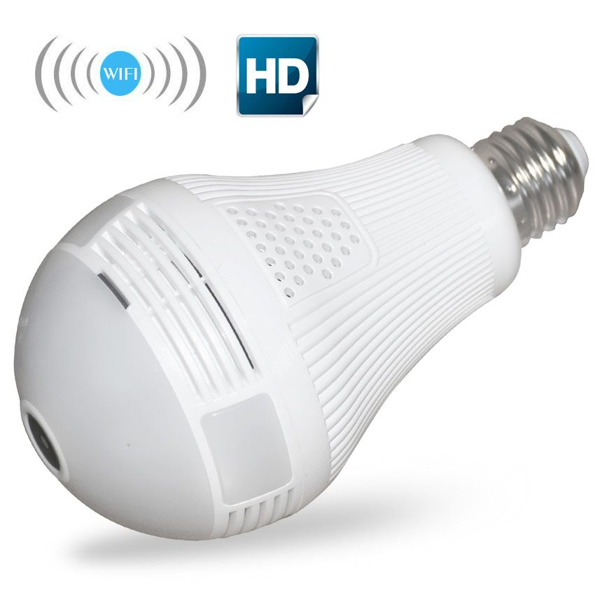 1080 p 960 p wifi panorámica de 360 grados cámara IP inalámbrica bombilla de luz mini cámara 2.0mp 1.3mp 3D VR seguridad bombilla WIFI Cámara