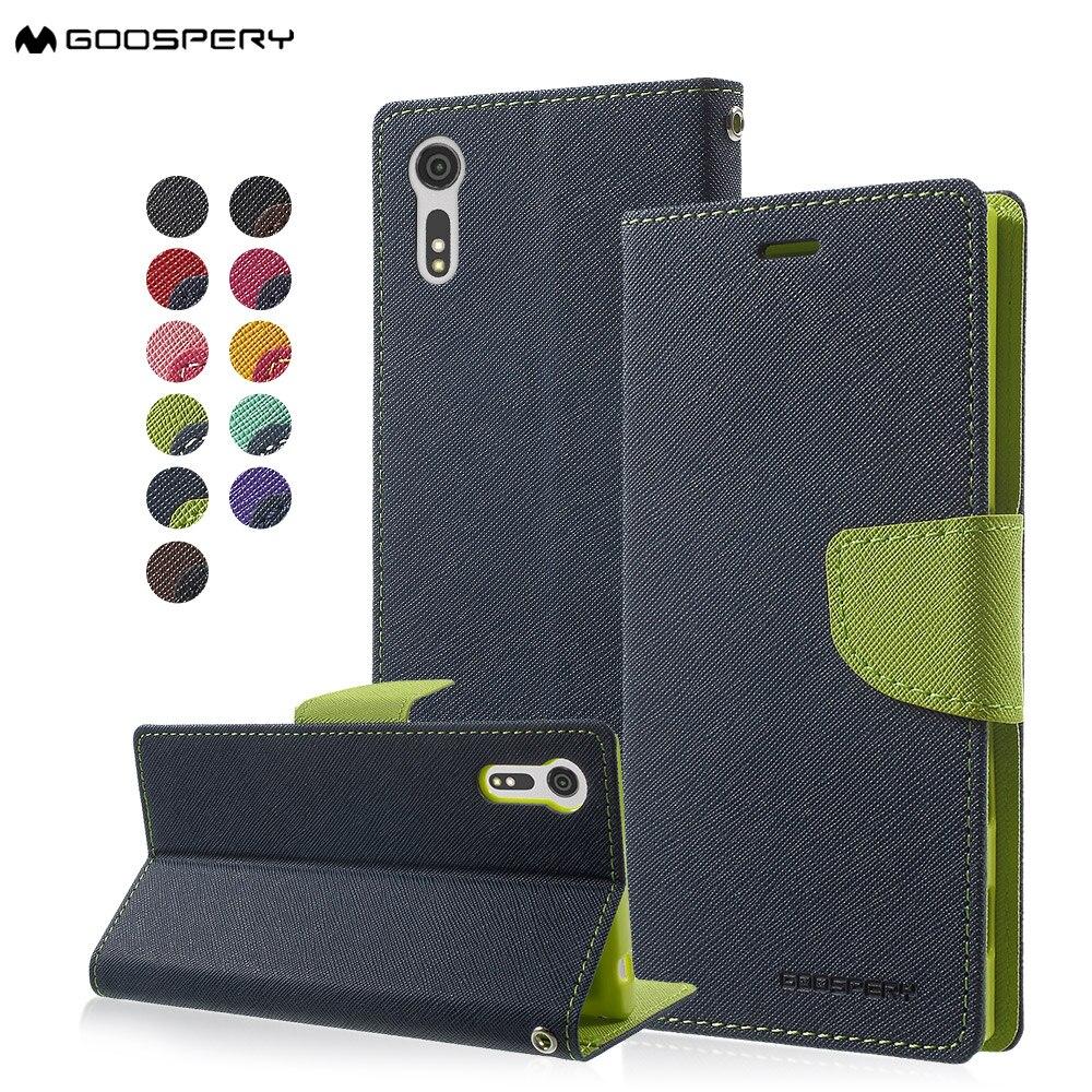 Téléphone Capa Coque Pour Sony Xperia XZ Cas MERCURE GOOSPERY Fantaisie Journal Cas En Cuir magnétique pour Sony Xperia XZs/XZ-5.2 pouce