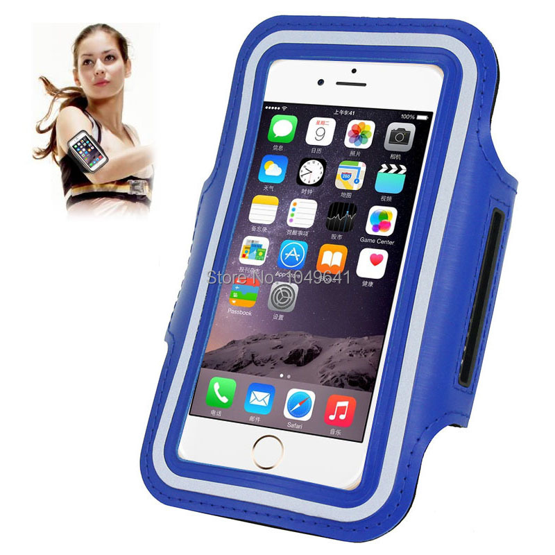 KIP6-1322L_1_Sport Armband Case with Earphone Hole & Key Pocket for iPhone 6 & 6S  HUAWEI Y3 II  ZTE Blade GF3  and Less than 4.7 inch Mobile Phone