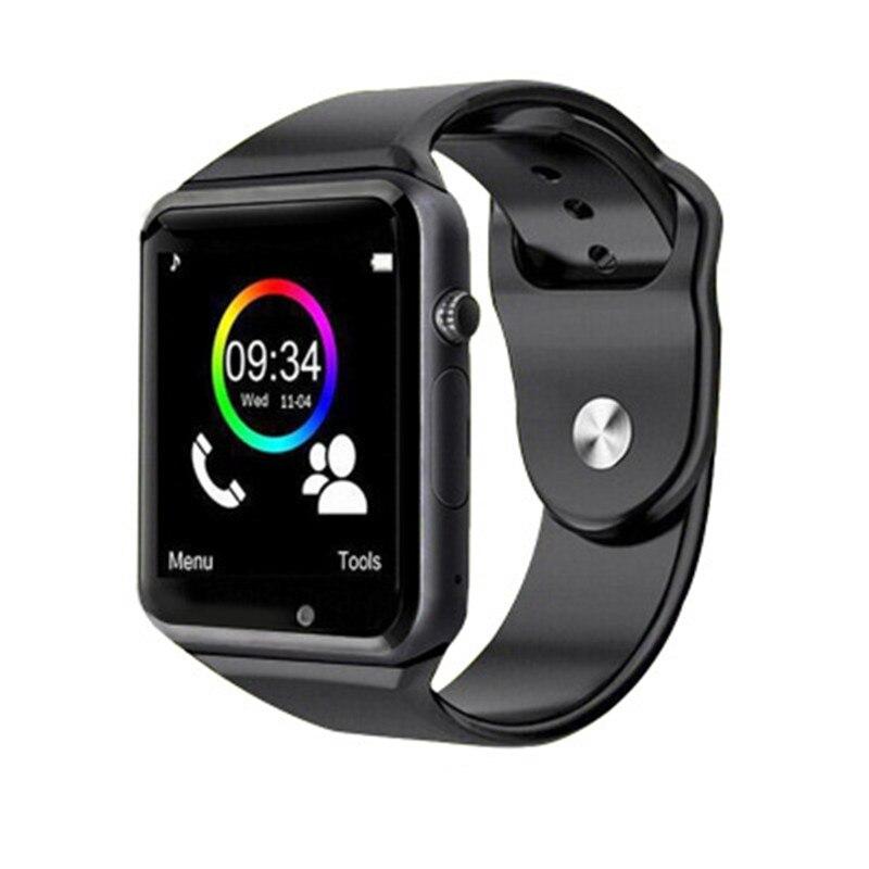 imágenes para 2016 Caliente A1 teléfono bluetooth reloj inteligente para android apoyo SMI/TF hombres mujeres reloj deportivo