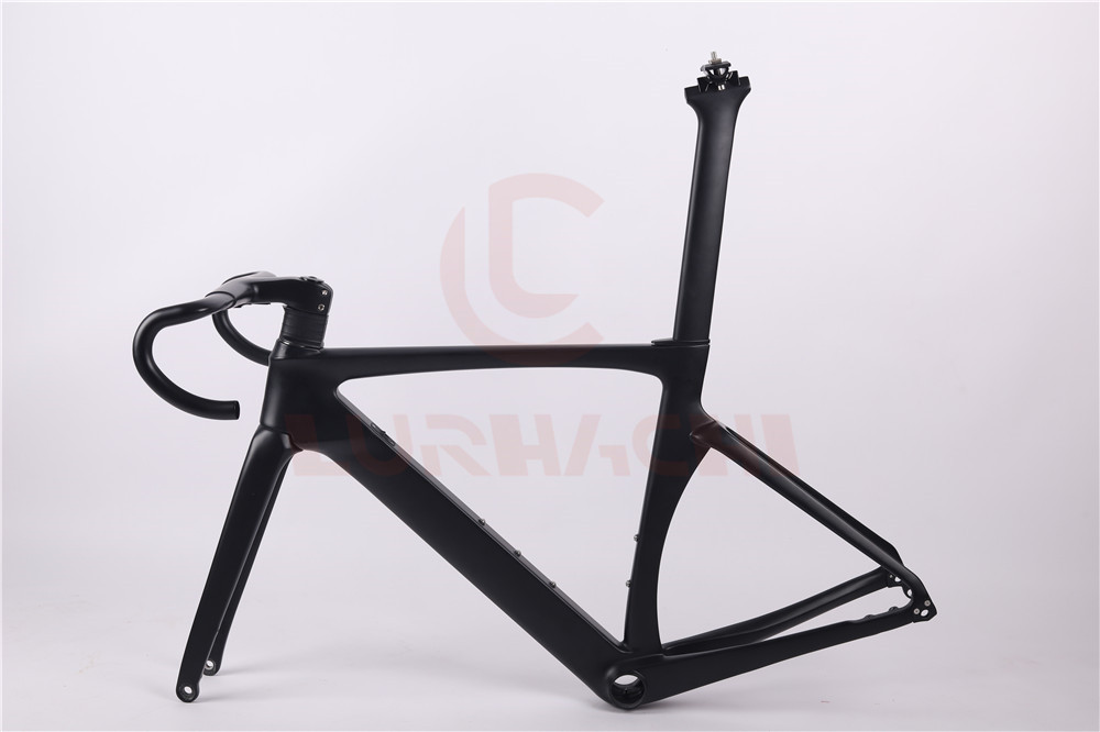 LURHACHI 2019 Newest RX360 Disc Brakes Aero Carbon Fiber Racing Bicycle Frame Road Aero Racing Bike Frame 45/47/49/52/54/56/58cm