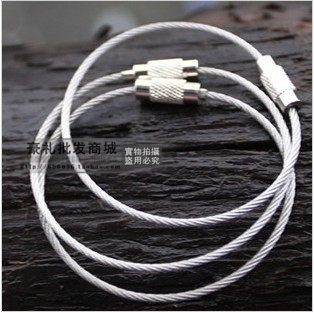 Overstretches multifunctional steel wire rope key ring stainless steel wire chain outdoor camping home supplies