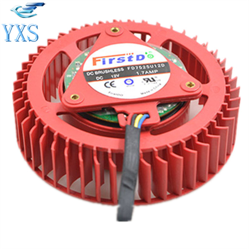 HD 7970 FD7525U12D DC 12V 1.7A 5200RPM Turbine Graphics Card Cooling Fan сумка для канцелярии tying awesome tp wl 351