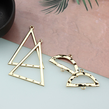 2pcs korea vintage earrings copper alloy geometric triangle statement for women pendant diy jewelry accessories