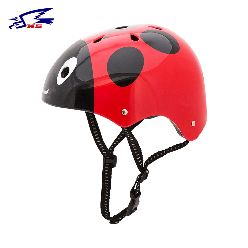Child Safety Helmet ABS+EPS Cartoon Beatles Helmets Ice Skating Riding Skateboard Hip-ho ...