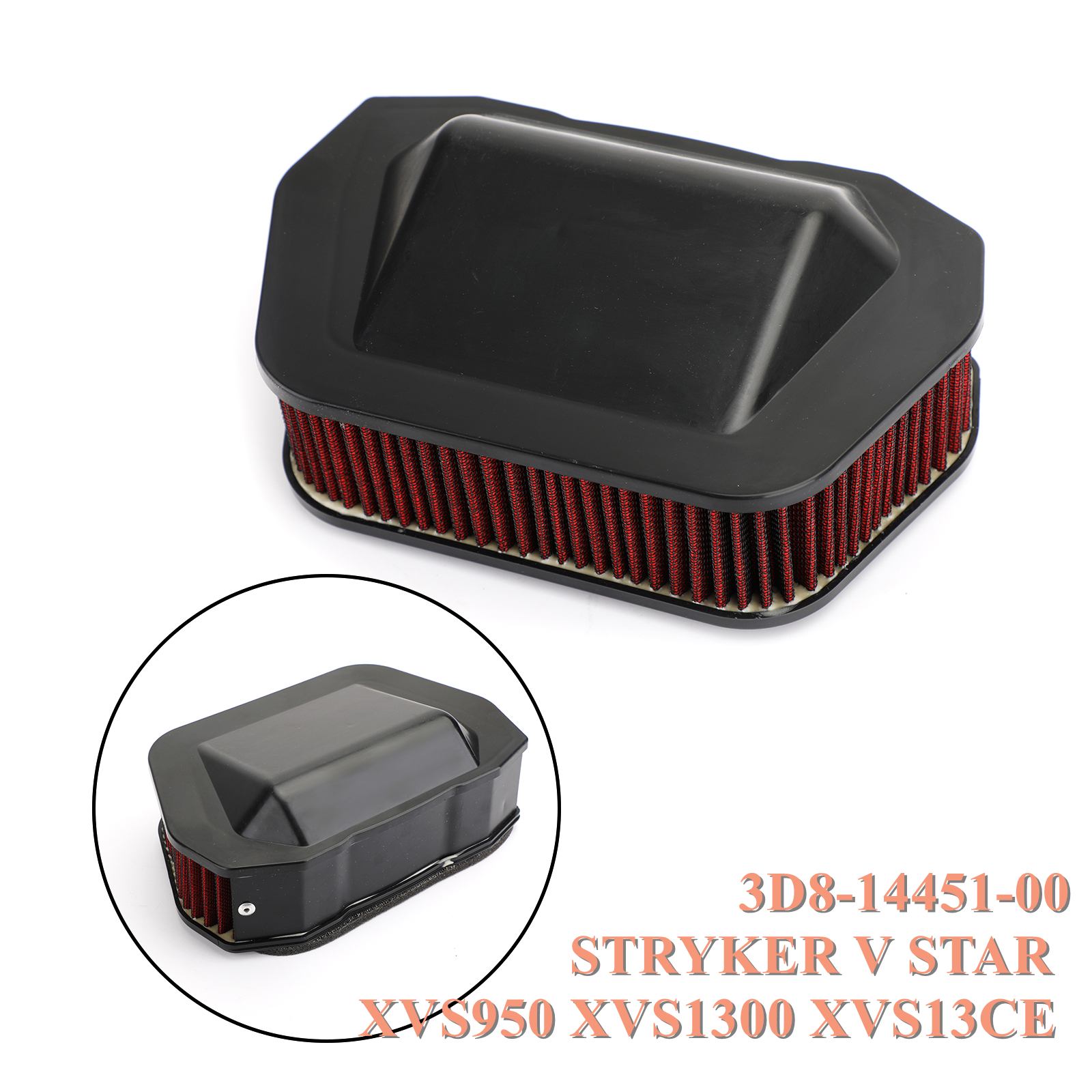 Artudatech Air Filter Cleaner For <font><b>Yamaha</b></font> STRYKER V STAR <font><b>XVS950</b></font> XVS1300 XVS13CE 2007-2017 image