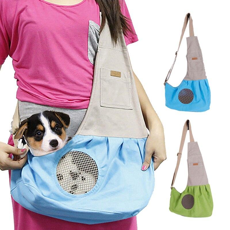 Toile chiens chat Pet Carrier sacoches pliable chiot caisse sac à dos sacs de Transport animaux fournitures Transport Chien accessoires