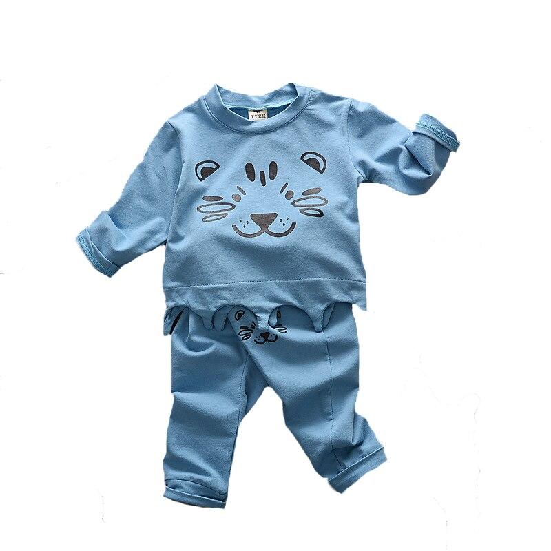 kids clothing sets t shirt pants 2pcs cartoon baby clothes 2017 spring autumn fashion cute lion