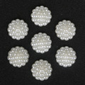 16mm 20mm 22mm ABS White Flower Simulated Pearl Beads Charms Jewelry Making Material DIY Crafts Sewing ON Pearl Flower