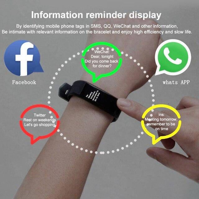 Health Bracelet Heart Rate Blood Pressure Smart Band Fitness Tracker Smartband Wristband honor mi Band 3 fit bit Smart Watch Men 4