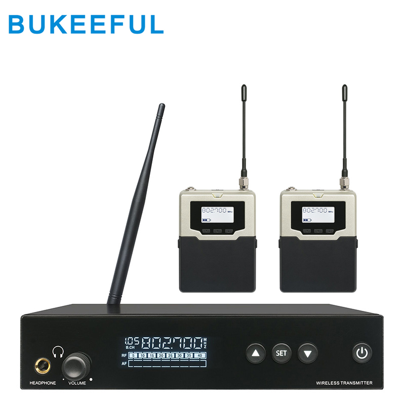 top quality wireless in ear monitor system with 2 receivers in ear personal monitoring stage. Black Bedroom Furniture Sets. Home Design Ideas