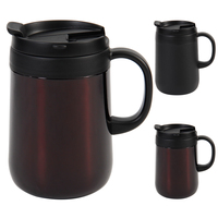 460ML 304 Stainless Steel Cup Thermos Mugs Office Cup With Handle With Lid Insulated Tea Mug Thermos Cup Office Thermoses