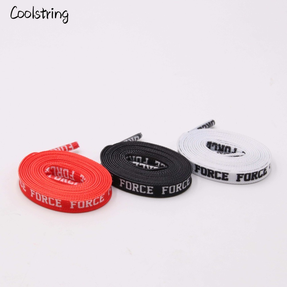 Coolstring Fashion Fantastic Flat Letter Print Shoelaces Sport Shoe Laces Sneaker Polyester Decoration Pattern Colored Bootlaces