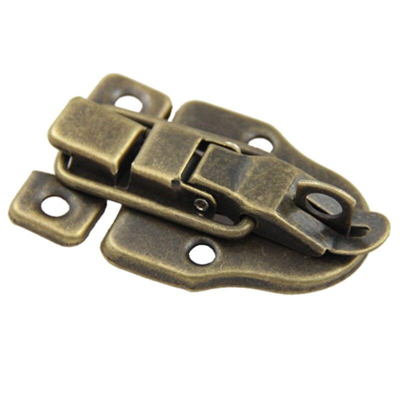 Винтаж замок для шкафа коробки Duckbilled металлический замок с задвижкой засов, устройство блокировки бронзовый тон