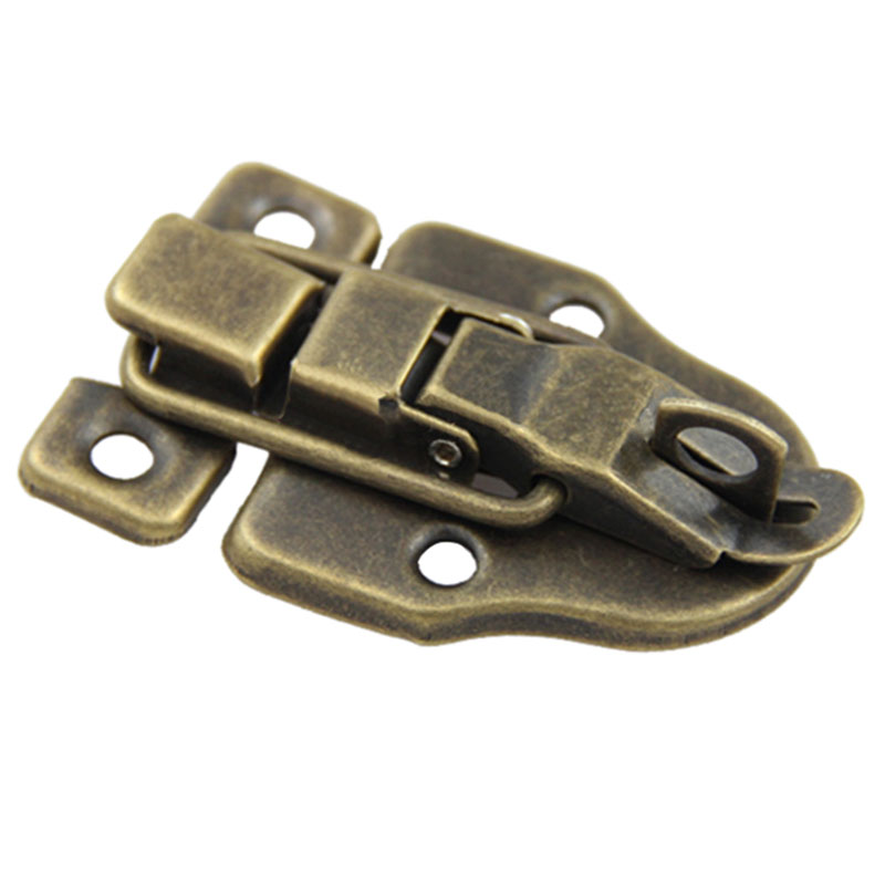 Vintage Locks Cabinet Boxes Duckbilled Metal Toggle Latch Catch Hasp Bronze Tone